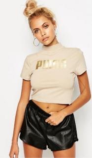 Hochgeschlossenes kurzes T-Shirt von Puma, gesehen bei asos.de