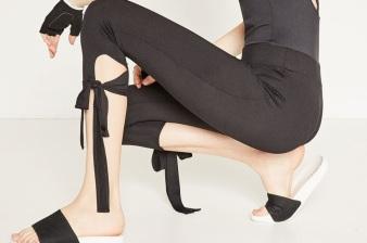Leggings mit Bändern von zara